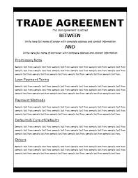 Trade Proposal Template - Pccc.us