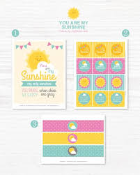 Diy Party Printables Instant Download You Are My Sunshine Birthday Collection
