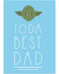 yoda best dad father s day card