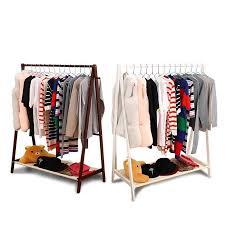 wood clothes rail stand wardrobe shoe shelves storage rack unit 2 colors h440