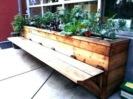 outdoor planter benches wart box living furniture diy bench with seat