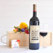 wine gift personalised thank you gift
