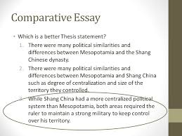 comparative essay another skill historians attempt to master is  comparative essay which is a better thesis statement