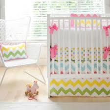 rainbow chevron crib bedding from green pea baby