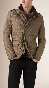 Lyst - Burberry Diamond Quilted Field Jacket in Natural for Men & Gallery Adamdwight.com