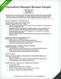 Operations Resume Examples Operations Resume Thrifdecorblog Com