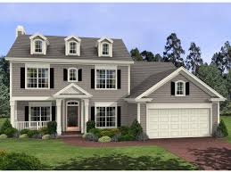 colonial house plans. Harrison Glen Colonial Home House Plans