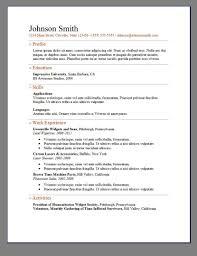 Free Simple Elegant Resume Template Curriculum Saneme