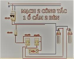 1.Vẽ sơ đồ nguyên lý của mạch điện gồm 1 cầu chì 1 ổ cắm điện 2 công tắc 2  cực điều khiển 2 bóng đèn 2. Vẽ sơ đồ lắp đặt