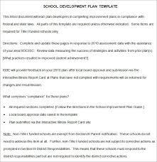 Improvement Plans Templates School Development Plan 8 Free Word Documents Download Free