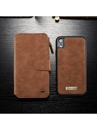 luxury iphone xs max leather detachable wallet case