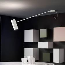 contemporary ceiling light metal led swing arm dejavÚ by barazzuol malisan