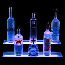 Bar Bottle Display Stand 100 Tier LED Lighted Liquor Bottle Display Shelf 100 Foot Length 30