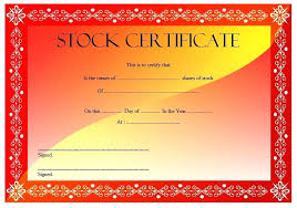 Stock Certificate Template Blank Corporate Certificates Share Free ...
