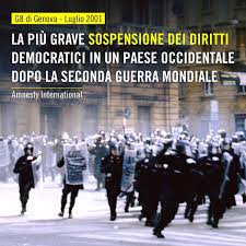 Amnesty International - Italia - A 18 anni di distanza, il G8 di Genova  resta una ferita aperta. Una drammatica pagina della storia italiana che  non deve mai più ripetersi. Per questo