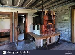 Wohnzimmer Mit Kachelofen In Einem Bauernhaus Erbaut 1711