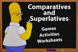 Resultado de imagen de comparatives and superlatives