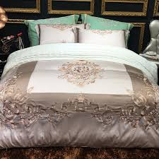 whole 80s egyptian cotton luxury embroidery bedding sets duvet cover flat sheet pillowcase set high quality full comforter sets pink bedding sets from