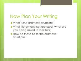 ap lit exam q essay the prose prompt strategies and notes ppt  now plan your writing  what is the dramatic situation