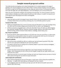 Apa Research Proposal Sample Research Proposal Example Apa Luxury Apa Research Proposal Outline