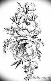эскизы тату для девушек пионы 08032019 006 Tattoo Sketches