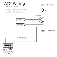 using the raspberry pi to control an atx power supply 3 steps circuit layout