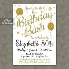 28 Incredible 80th Birthday Invitation Templates