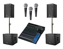 church sound system. church sound system with electro-voice ekx series portable loudspeakers, yamaha mixer, and 3 free mics - decideconfidently