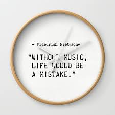 Friedrich Nietzsche Quote Wall Clock