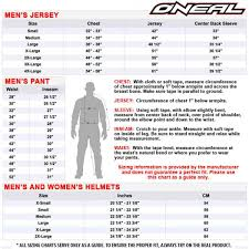 Oneal Mx Glove Size Chart Oneal Element Racewear 2015 Motocross Gloves