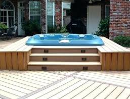 backyard build a hot tub diy surround deck ideas with pits design by deck around hot tub build