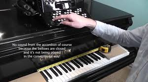 Chromatic Button Accordion B System Note Layout Versus Piano Keyboard
