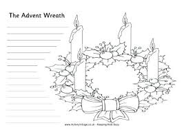 Printable Advent Coloring Pages Advent Wreath Coloring Pages