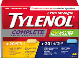 Tylenol Cold Dosage Chart Tylenol Complete Cold Cough Flu