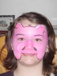 pig face paint design