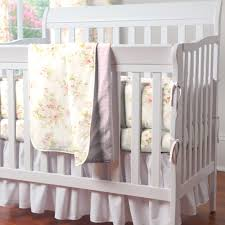 shabby chenille crib bedding pink fl baby girl 2017 including chic furniture inspirations portable