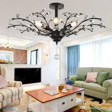 lamps k9 crystal chandeliers nordic country style e14 crystal pendant lamp led ceiling light chandelier lighting fixture chandelier with fan girls room