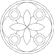 Kleurplaat Bloemen Hartjes Mandala Vier Ringe Ausmalbild Malvorlage