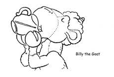 Billy The Goat Is Drinking A Lot Of Water Coloring Pages Best