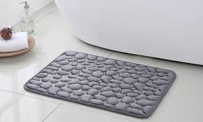 pebbles massage memory foam bath rug set 2 piece