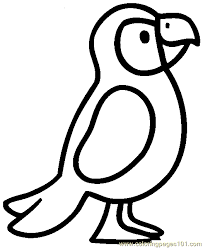 Small Picture Parrot Coloring Page 04 Coloring Page Free Parrots Coloring