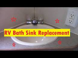 Rv Bathroom Sink Replacement Youtube