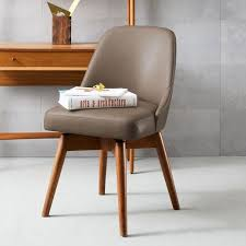 leather swivel office chair. midcentury leather swivel office chair