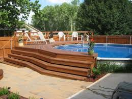 multi level pool deck stairs picture of above ground