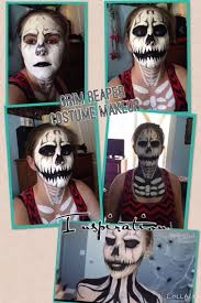 grim reaper makeup i did for a friend inspired by made you look by lex