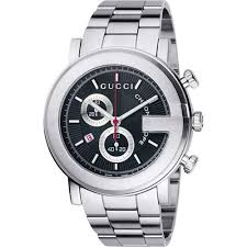 gucci watches cheap gucci 101 g men s round steel chronograph watch