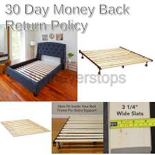 full modern sleep heavy duty wooden bed slats bunkie board frame for any mattress type beds