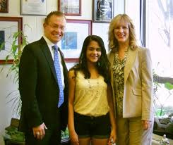 pobcsd in the news detail page dupont challenge second place winner roshni sethi is joined by pobjfk principal james murray