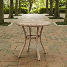 crosley co7217 lb palm harbor outdoor wicker round side table light brown