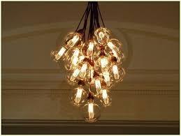 hanging bulbs chandelier light bulb home design with idea 17